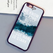 Jon Snow Game of Throne Printed Mobile Phone Cases OEM For iPhone 6 6S Plus 7 7 Plus 5 5S 5C SE 4S Soft Rubber Back Shell Cover