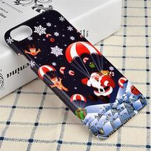 FGHGF big promotions Christmas Socks Phone Case Hard Plastic Mobile Cover for iPhone 7 Plus 6S 6 5S 5 SE Xmas Tree Santa Coque(China)