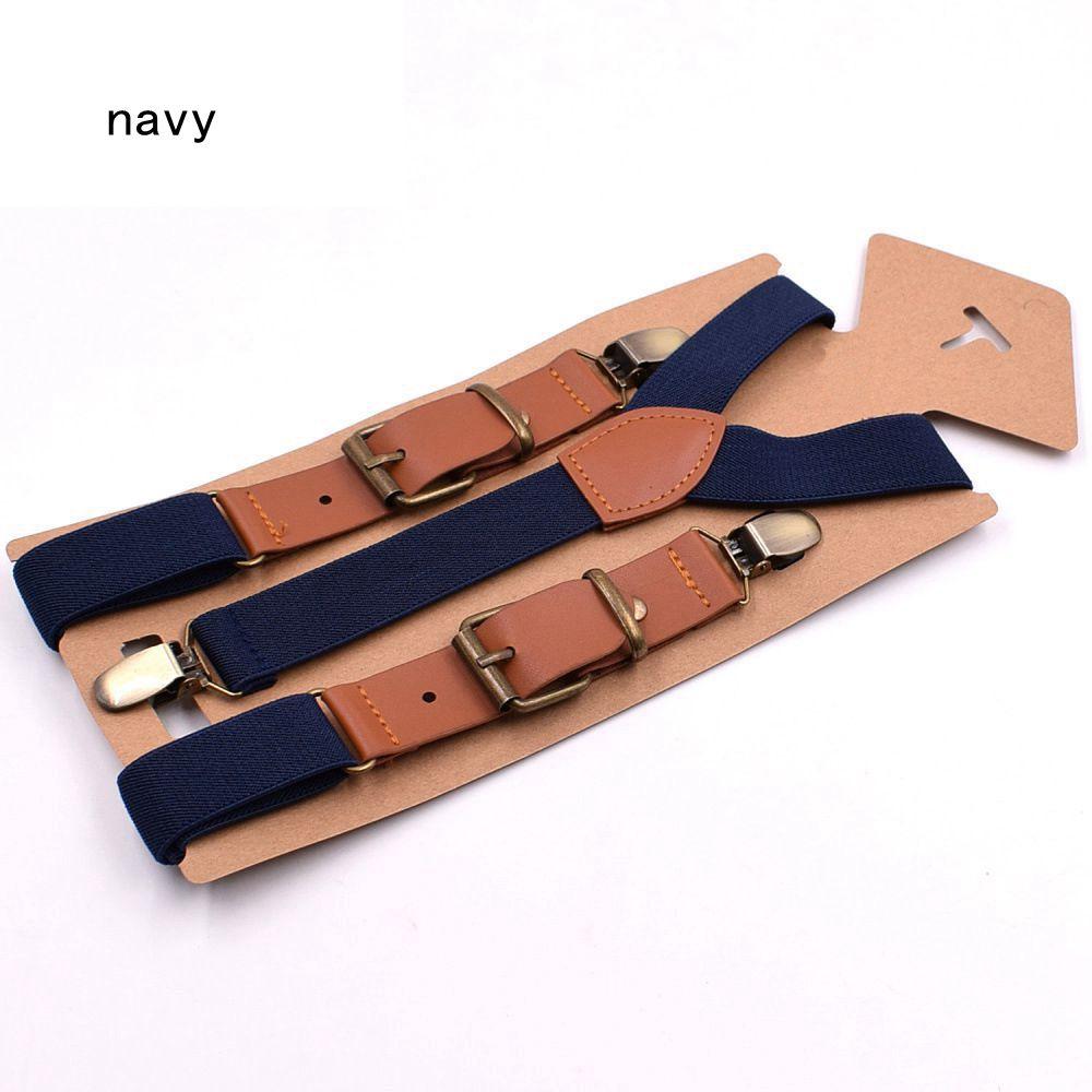 navy suspender children