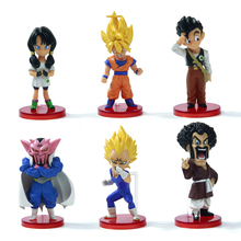 6pcs Dragon ball Z Action Figures Budokai Son Goku Gohan Vegeta Dragonball PVC Model Toy Japanese Anime Figure Dragon Ball Kai