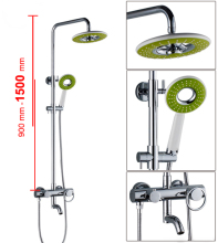 Bath bathroom shower set faucet mixer tap with shower rain shower faucets