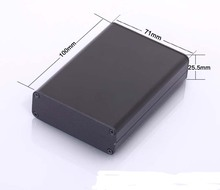 "Aluminum enclosure extruded box Video communication shell 71(2.79"")X25.5(1"")X100(3.94"")mm DIY separate type"