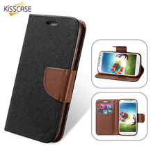 KISSCASE Hit Color Magnetic Flip Leather Phone Case For Samsung Galaxy S8 S7 S6 Edge Plus S5 S4 Card Slot Wallet Holster Cover