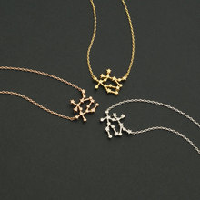 Daisies 10pcs/lot--New Arrival! Gemini Zodiac Sign Necklace Astrology Constellation Jewelry Women Star Sign Statement Necklace
