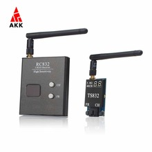 AKK 5.8G FPV 2000M Range TS832+RC832 Audio Video Transmitter and Receiver for FPV Drone(United States)