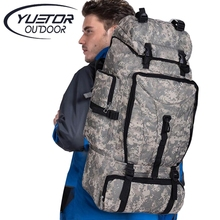 Brand YUETOR 70L Big Capacity Waterproof Nylon Military Tactical Backpack Camping Hiking Huntin Climbing Army Rucksack Sport Bag