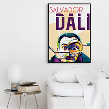 Bianche Wall Surrealist Painter And Prints Salvador Dali Portrait Canvas Painting Art Print Image Poster Wall Home Decoration(China)