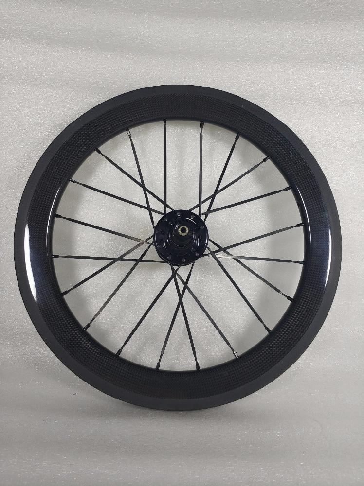 SEMA 16inch349 carbon wheelset with husmith 3K glossy (11)