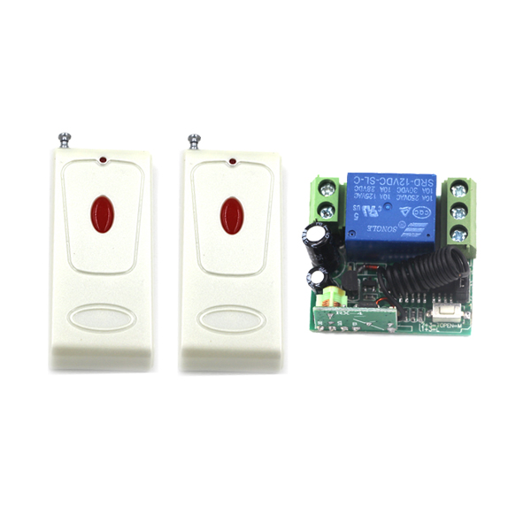 2 Controller+1 Receiver DC12V 10A 1CH rf wireless remote control switch/ home appliance wireless remote control switch SKU: 5562<br><br>Aliexpress