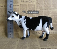 simulation cow model polyethylene& fur standing pose 25x8x16cm dairy cow toy handicraft,prop,home Decoration xmas gift b3543