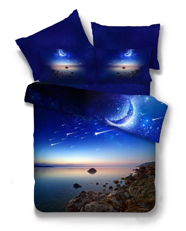 Hot 3d Galaxy bedding sets Twin/Queen Size Universe Outer Space Themed Bedspread 2/3/4pcs Bed Linen Bed Sheets Duvet Cover Set 54