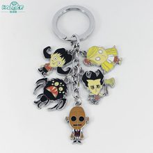 Halder Don't Starve Do Not Starve Cosplay Figures Charms Key Chains Wilson Phone Strap Trinkets Accessories Gadgets Keychain