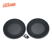 GHXAMP 2PCS 3.5 inch Car Speaker Grill Mesh Protective Cover ABS High-end