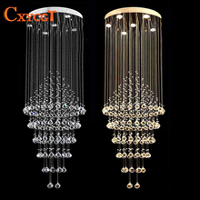 Long Size Crystal Ceiling Light Spiral Crystal Light Lustres Ceiling Lamp Lighting Fixture for Stair / Foyer/ Hallway MC0582(China)
