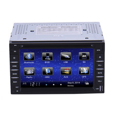 "6"" 2 Din Car Player Navigation Radio Multimedia HD Entertainment System for Car With DVD MP4 USB SD AM FM RDS Bluetooth GPS"