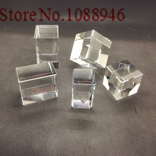 Hot Sale 10-100pc Crystal Cube K9 Crystal Blank Block with Cart Corner Carved White Embryo Material for 3d Laser Engraved Craft
