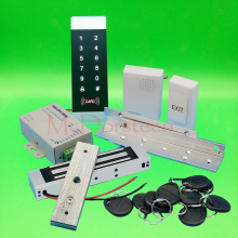 Buy DIY Complete 125khz Rfid Door Lock control system 350lbs 180kg Electric Magnetic Lock+ZL Bracket+Power supply+exit button for $47.90 in AliExpress store