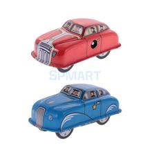 2 Pieces Vintage Retro Car Model Wind-up Clockwork Iron Tin Toys Collectible Gifts(China)