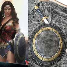 Top Quality Movie Batman v Superman: Dawn of Justice Wonder Woman Shield(Diameter: 55cm) Sword CosplayWonder Woman props(China)