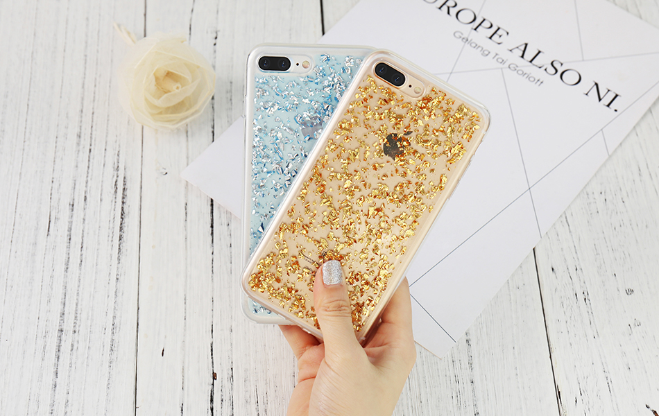 DOEES For iPhone 7 6 6S Plus 5 5S SE Case Luxury Cute Glitter Clear Case For Samsung Galaxy S8 Plus S7 S6 Edge S5 Note 7 5 Back Cover (19)