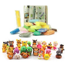 24Colors Play Doh Fimo Polymer Plasticine Modelling Clay Air Dry Playdough Light DIY Soft Creative Toys DIY Plasticine Clay Safe