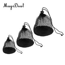 MagiDeal 3 Pieces Nylon Mesh Net Bag Golf Tennis Ball Carrying Holder Storage Pouch ( Small + Middle + Large)(China)