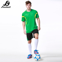 High quality soccer jerseys adult short sleeve men football kits survetement football 2017 Customized football jerseys new(China)