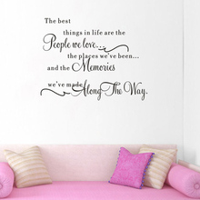 Vinyl Art Decal Home Decor fashion Wall decoration Quote The Best Things In Life Removable Wall Sticker(China)