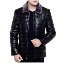 Buy 2017 new Autumn Winter Faux Fur Collar PU Leather Jacket Men Thick Warm Velvet Mens Jackets Coat Vintage Male Casual Motorcycle for $84.55 in AliExpress store