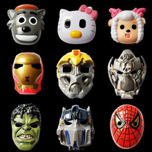 5PCS New Free shipping Hot Spiderman Batman Transformers Optimus Prime Bumblebee Halloween masquerade masks masks for children