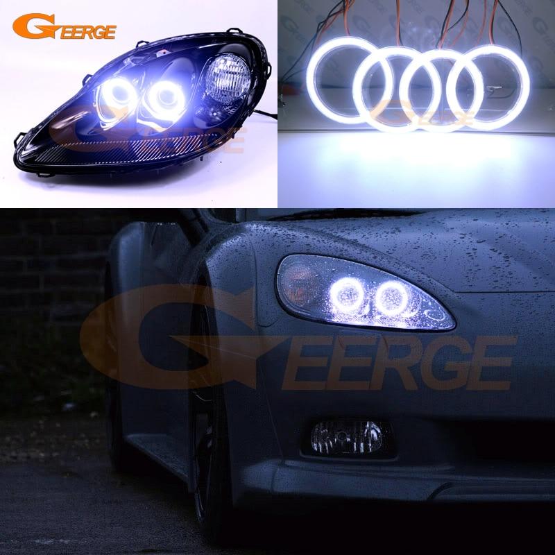 For Chevrolet Corvette C6 2005-2013 Excellent Ultra bright illumination COB led angel eyes kit halo rings<br>