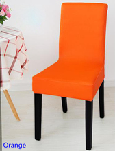 Orange Colour Spandex lycra chair cover fit for square back home chairs wedding party home dinner decoration Half cover