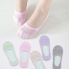Summer female  cotton socks mesh shallow mouth contact thin breathablecotton socks-5 pairs