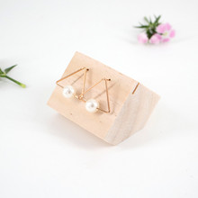 New Fashion Wood Earrings Display Holder Jewelry Display Stand Jewellery Display Showcase Wood Earrings Display Stand