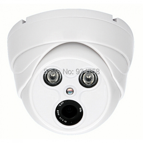 1.0MP 720P CCTV Security AHD HD 2 IR Leds 4mm Dome Camera<br>