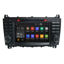 For android 5.1 1024*600 Car DVD GPS for Benz Mercedes W203 W209 C Class CLK 2004-2011 Capacitive Screen Navigation Radio Player(China)