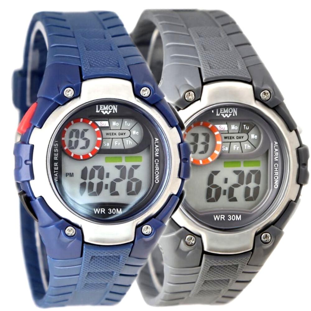 Wholesales 6pcs. /Lots Multiple Colors DW325 Swimming Fitness Sporty Chronograph Alarm Back Light 3ATM Sport Digital Watch<br>