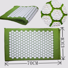 High Quality  Green Massager cushion Acupressure Mat Relieve Stress Pain Acupuncture Spike Yoga Mat with Lotus flowers