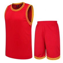 MAN 2017 New Unisex Basketball Jersey Set With Shorts custom Men Sport Training Basketball Suits hot sale 1014(China)
