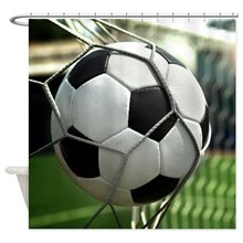 Warm Tour Soccer Goal Fabric Polyester Waterproof Bathroom Curtains