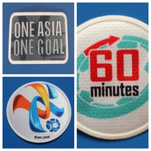 Champions League AFC one asia one goal 60 minutes patch football Print patches badges,Soccer Hot stamping Patch Badges