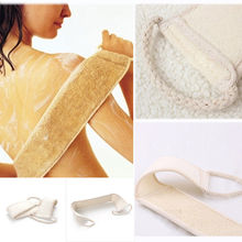 Bath Brush/massage Cleaning Luva Bath Exfoliating Loofah Back Strap Bath Shower Body Scrubber New Fashion(China)