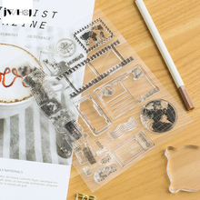 JWHCJ Travel the world transparent silicone stamp, children DIY Handmade Scrapbook Photo Album decor tools students soft Stamp(China)