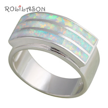 Anniversary design Light White fire Opal Silver Stamped Rings fashion jewelry USA size #6.5 #7 #6.75  #7.75 #8 OR435