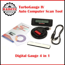 Newest TurboGauge IV Auto Computer Scan Tool 4-in-1 Vehicle Computer OBDII/EOBD car trip computer / Digital Gauges/ scan gauge