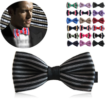 High quality knitted fabric design men's knitted bow tie 2016 fashion leisure multicolor butterfly ties bow ties