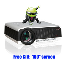 5500 lumens smart Android 4.4 lcd tv led video projector full hd accessories 1920x1080 3d home theater projetor proyector beamer