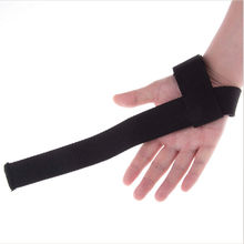 1Pcs Black Weight lifting strap Wrist Support Gloves Wrap Hand Bar Straps For Weight Lifting Training Gym(China)