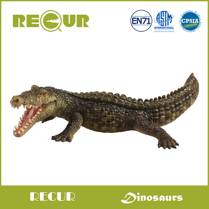 Recur Toys Jurassic Dinosaurs Deinosuchus Delicate Model Hand Panited PVC figures Animal Toy  Gift Collection For Kids<br>