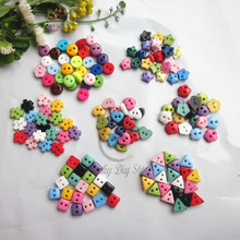 300pcs 7 shapes mixed mini buttons for doll craft scrapbooking resin small buttons 6mm -6.8mm diy crafts accessories wholesale